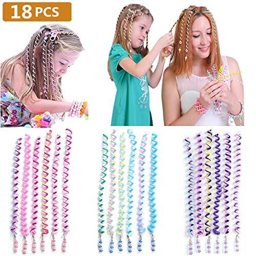 BUYGOO 18PCS Haar Torsion Haarschmuck mit Strass - Bunt Mädchen Haar Styling Twister Haarspiralen Haar Accessoires Mehrfarben für Mädchen und ()