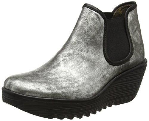 Fly London Yat - Stivaletti Donna Argento (Ant.silver/black 026)