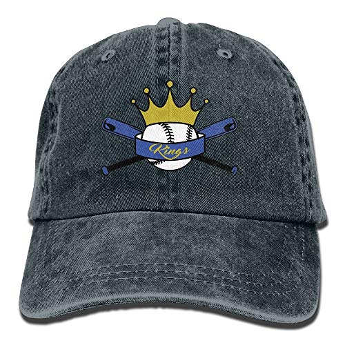 Hat King Baseball Logo Denim Skull Cap Cowboy Cowgirl Sport Hats for Men Women Cowgirl Cadet Cap
