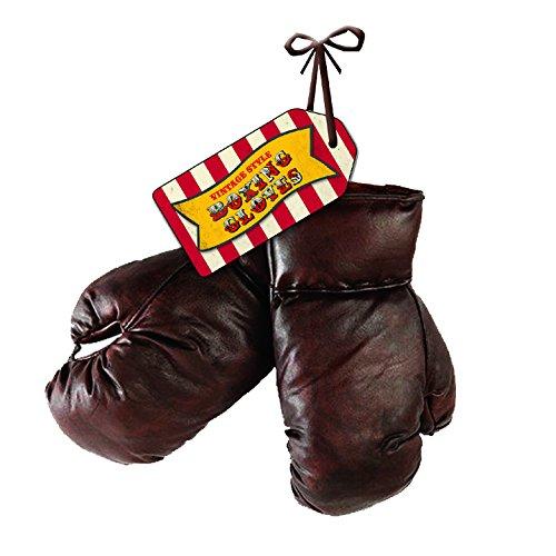 Robert Frederick 8oz Guanti da boxe con tag–Vintage Rosso E Bianco A Righe, Colori Assortiti