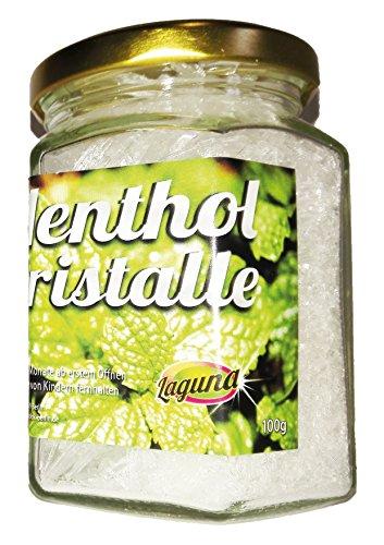 100g Menthol 0,1kg Mentholkristalle Minze pharmazeutische Qualität für Saunaaufguß im praktischen dekorativem Glas -