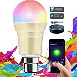 #9: Smart LED Bulb Dimmable 7W WiFi Light B22 Base 16 Million Colors Compatible with Alexa Google Home Remote Control by iPhone & Android 50W Equivalent 1 Year Warranty