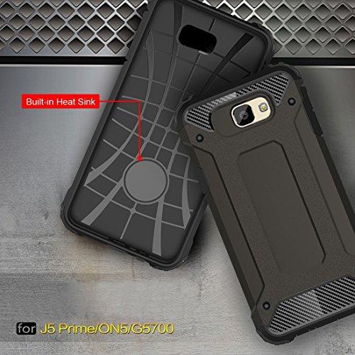 Samsung Galaxy J7 Prime Case Tough Armor TPU + PC Kombi Hülle Für Samsung Galaxy J7 Prime by diebelleu ( Color : Red ) Coffee