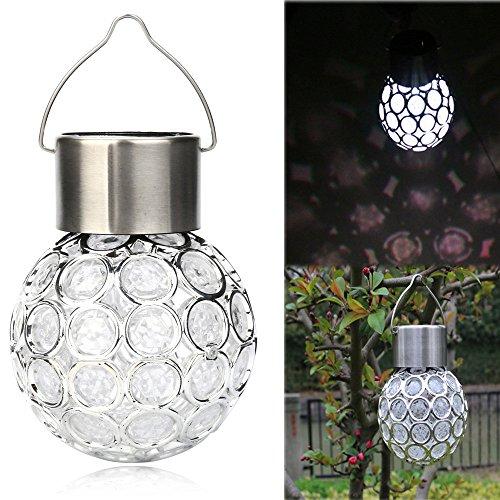 Jamicy® Wasserdichter drehbarer Solargarten im Freien, der LED-runde Ball-Lichter hängend kampiert, tragbare Lämpchen Licht Birne für außen, Innen, Garten, Camping, Angeln