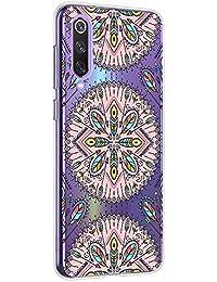 Oihxse Mandala Flores Encaje Patrón Serie Case Compatible con Xiaomi Redmi Note 3 Funda TPU Silicona Suave Protector Ultra Slim Anti-Rasguño Transparente Carcasa (A3)