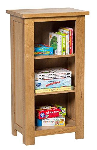 waverly-oak-small-bookcase-in-light-oak-finish-3-shelf-storage-low-bookshelf-solid-wooden-bookshelve