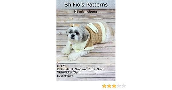 Häkelanleitung – CP179 -Hundemantel, Mantel oder Überzug für Hunde ...