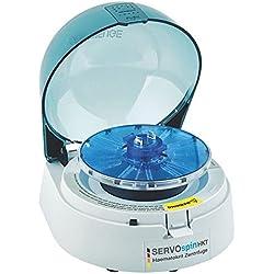 Servo Spin HKT Micro de hematocrito–La pequeña Centrifugadora de alta velocidad, diseñado para la determinación de la hematocrito de valor–12x 2ml ┇ velocidad: 12000min de 1┇ versátil Uso en laboratorio, química, Farmacia, la industria, etc. ZF1sangre Medición dispositivo Medidor