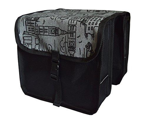 FAHRRADTASCHE Kinder Satteltasche Gepäckträgetasche Doppel 2 x 5l (1 - Mini - City)