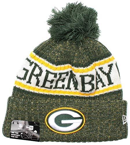 New Era ONF18 Sport Knit Bommelmütze Green Bay Packers Grün, Size:ONE Size (Green Bay Packers)