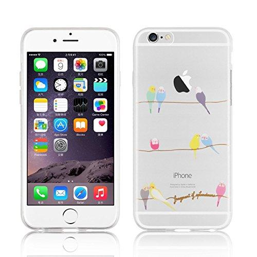 licaso iPhone 6 6S Hülle Apple iPhone 6 und 6S aus TPU Silikon Wellensittiche Vögel Muster Ultra-dünn schützt Dein iPhone 6 Case Design Schutzhülle Bumper
