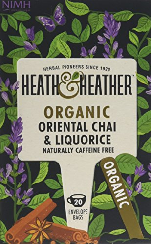 A photograph of Heath & Heather organic chai