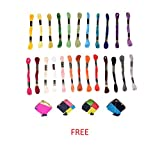 #1: Anchor Cross Stich/ Long Stich Embroidery Threads, Multicolored Set Of 25 , 8 Mt Each Skeins With 4 Small Decoration Kites