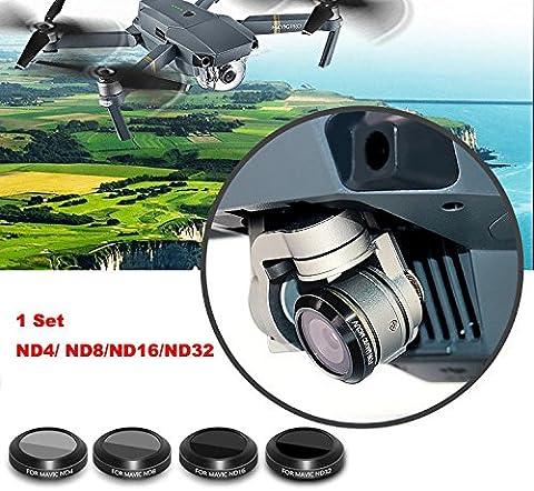 TWIFER ND4 ND8 ND16 ND32 HD Thin Camera Lens Filters For DJI MAVIC Pro Drone