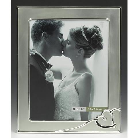 Grand cadre MARIAGE DE PHOTOS AVEC COEUR ARGENT CONCEPTION / CADRE