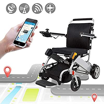 JIAO UK Electric Wheelchair Folding Mobility Aid With Remote Control, Emergency Call, Powerful Brushless Motor Easy For Seniors Family Gathering The Aviation Travel Use