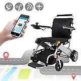 JIAO DE Elektrischer Rollstuhl, der Mobilitätshilfe mit Fernbedienung faltet, Notruf, leistungsfähiger schwanzloser Motor einfach für die ältere Familie, die die Luftfahrt-Reise-Verwendung erfasst