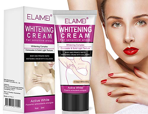 Whitening Cream, Aufhellung Creme, Dark Armpit/Inner thigh/Elbow/Knee/Bikini Bleichen/Private Part Nipple Whitening Pinkish Bleaching Cream -