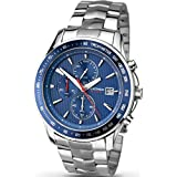 Sekonda 1046 Mens Chronograph Watch Stainless Strap and Case 50m