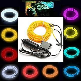 Wooya 5M EL Neon Light Light Cable Cord Wire 12V Inverter-Hellgrün