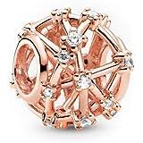 LaMenars Stars Snowflake Dangle Charm fit Pandora Bracciali 925 Perline d'argento per bracciali e collane da donna per San Va