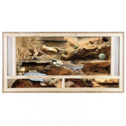 Repiterra® Terrario di legno 120x60x60cm - prese di areazione frontali