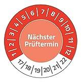 AVERY Zweckform 6927 Prüfplaketten (120 Etiketten, nächster Prüftermin 2017-2022, Durchmesser 20 mm) 8 Bogen rot