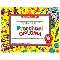 Hayes School Publishing H-VA706 Certificats pr-scolaire dipl-me Paquet de 30