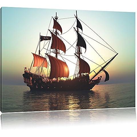 Pintura Velero viejo en la lona, ??Retratos XXL totalmente enmarcadas con marcos grandes cuña, cuadro de la pared de impresión del arte con el marco, más barato que la pintura o una pintura al óleo, no un cartel o pancarta, Leinwand Format:60x40