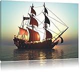 Altes Segelschiff Format: 60x40 cm auf Leinwand, XXL riesige Bilder fertig gerahmt mit Keilrahmen, Kunstdruck auf Wandbild mit Rahmen, günstiger als Gemälde oder Ölbild, kein Poster oder Plakat