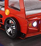 Stella Trading Spark Autobett, Holz, Rot, 225 x 108 x 91 cm Test