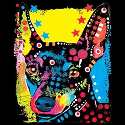 Langarm T-Shirt für Männer Langarmshirt Herren Miniature Pinscher cooles Hunde Motiv Dog Hunde Hund langes T-Shirt Schwarz
