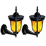 MIMI KING Solar-Fackel Leuchten, 96 LED Outdoor Wasserdichte Flamm Licht Lampen Flackernde Fackeln Laterne Solar Spotlight Für Gartenlandschaft Patio Deck Yard, 2 Packung
