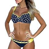 Summer Damen Strand Push Up Bikini-Sets Soft Cups Sammeln Mit Brustpolster Bandage Druck Triangle Polka Dots Tops Und Bottoms Badeanzug Bademode Beachwear S-XL