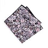 chic unique Modernes, Handgemachtes Einstecktuch in floralem Muster, grau-rosa