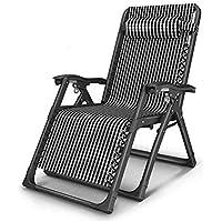 Zhedieyi Chaise longue pliante chaise de repos pour la maison dossier  dossier sieste lit simple chaise a1b3b8472783