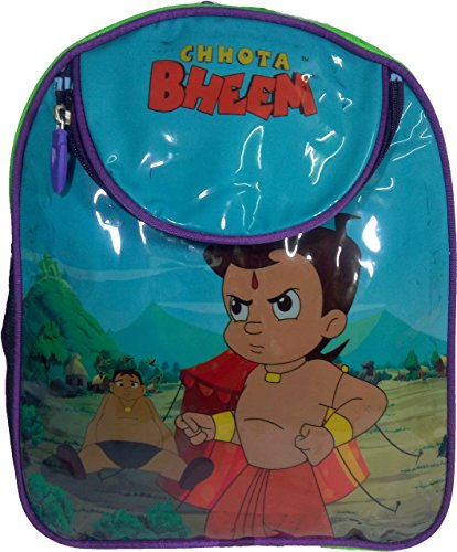 Chota Bheem Blue/Green Children's / kid's Backpack water proof, school bag for class / standard Play School, Pre Nursery, Nursery, KG, UKG, LKG, 1st class for boys & girls 8 Liter, 13 Inch. For children ages 2 to 5 years  available at amazon for Rs.449