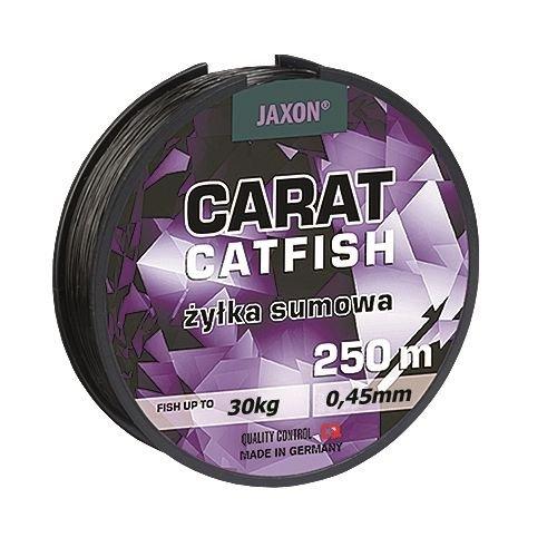 Angelschnur JAXON CARAT CATFISH Welsschnur monofile Wels 250m Spule 0,45/0,50/0,55mm (0,45mm/30kg)