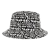 47-Brand-Angler-Hut-New-York-Yankees-MLB-Bucket-Hat-schwarz-weiss-Einheitsgrsse-58-cm