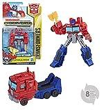 Transformers Cyberverse-Robot Mobile, 15cm, Giocattolo trasformabile 2in 1