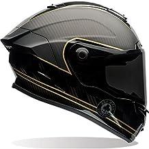 Bell 7069593 Casco para Moto Racestar Speed Check, Negro Mate/Dorado, L