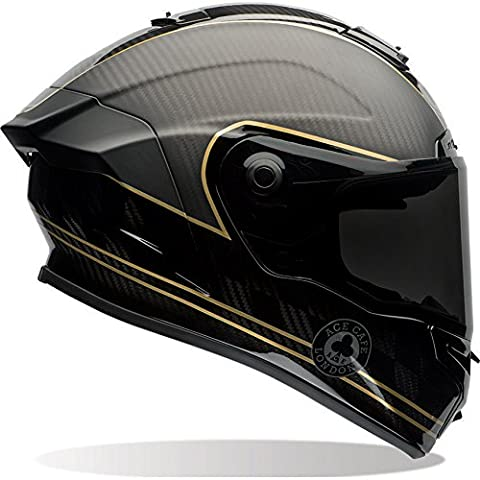 7069592 - Bell Race Star Ace Cafe Speed Check Motorcycle Helmet M Matte Black Gold