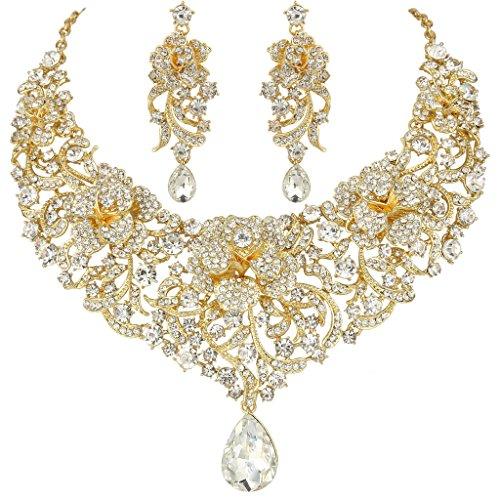 ever-faithr-cristal-austriaco-esmalte-fiesta-flores-lagrimas-gotas-joyeria-set-oro-tono-claro-n05644