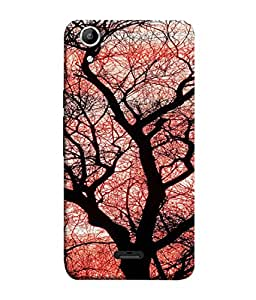 FUSON Designer Back Case Cover for Micromax Canvas Selfie Lens Q345 (Trees Gardens Big Old Jungle Branches Birds Singing)
