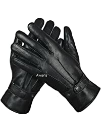 WOMENS REAL LEATHER GLOVES THERMAL THINSULATE LINED SOFT WARM WINTER GIFT