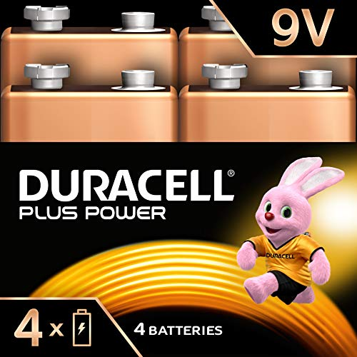 Duracell Plus Power Alkaline 9 V Batterien, 4er Pack 9v Pack