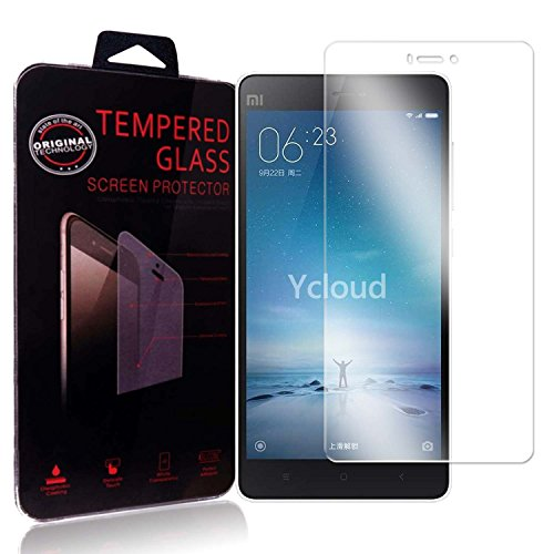 Ycloud Panzerglas Folie Schutzfolie Bildschirmschutzfolie für Xiaomi Mi 4C screen protector mit Härtegrad 9H, 0,26mm Ultra-Dünn, Abger&ete Kanten
