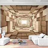 Fototapete Holz Optik 352 x 250 cm Vlies Wand Tapete Wohnzimmer Schlafzimmer Büro Flur Dekoration Wandbilder XXL Moderne Wanddeko - 100% MADE IN GERMANY - Runa Tapeten 9052011a