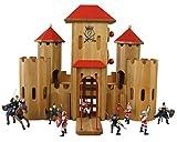 Unbekannt 931 0220 D7 Drewart Ritterburg Holz massiv Burg + Ritter Spielzeug Holzspielzeug