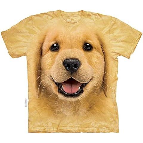 Mountain Maglietta Golden Retriever Puppy Dog Bambino Unisex